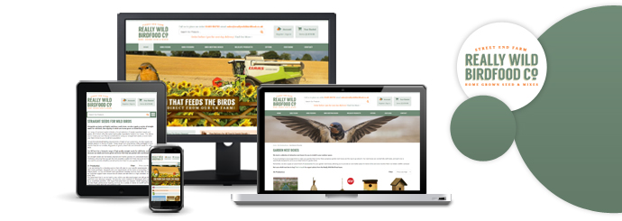 New Ecommerce Site for Really Wild Bird Food Co.