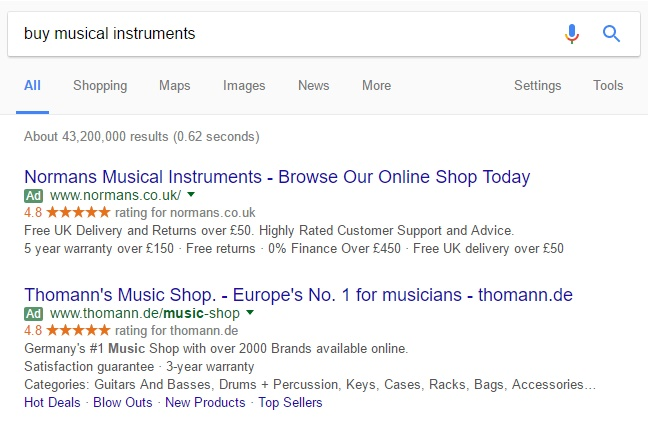 Musical Instrument ads