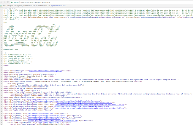 Inspect Source Code Coca-Cola