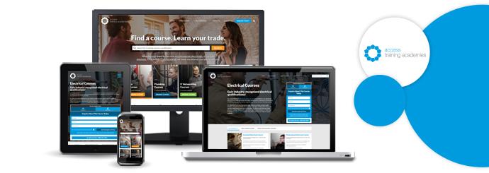 Brand New Website Design For Access Training Academies