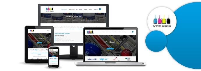 JD Print Supplies website