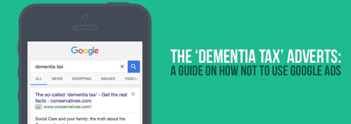 Dementia Tax Google Ad