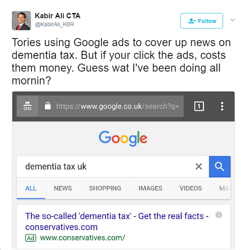 Dementia Tax Cost