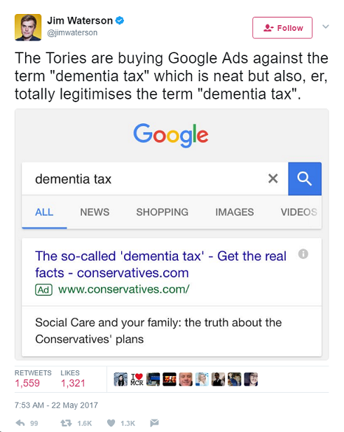 Dementia Tax Legitimised