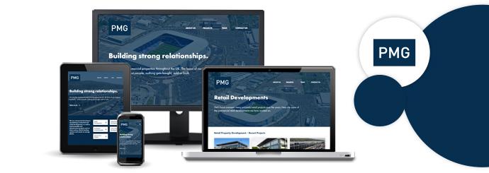 New PMG website design