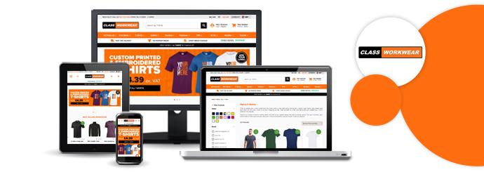 Class Workwear website