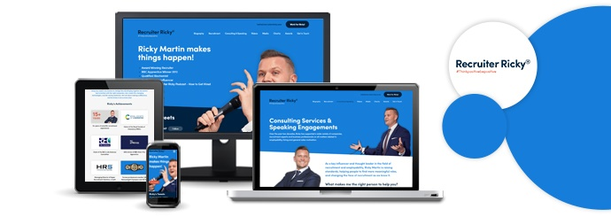 A Brand New Website for Recruitment Specialist Ricky Martin