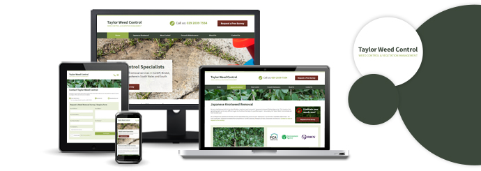 Taylor Weed Control website design