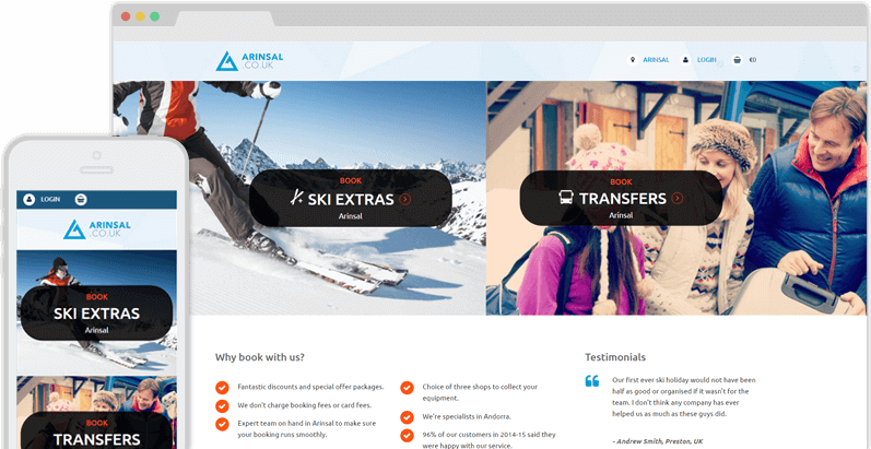 Travel Booker Ski Website