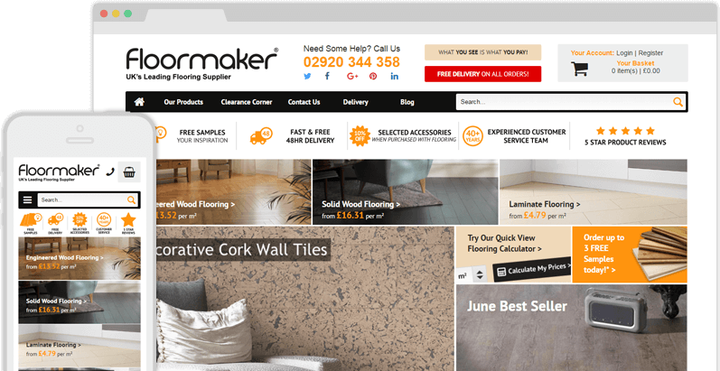 floormaker flooring website design case study